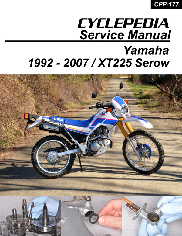 yamaha xt225 serow cyclepedia motorcycle service manual in print rh repairmanual com yamaha xt 225 service manual free yamaha xt225 repair manual