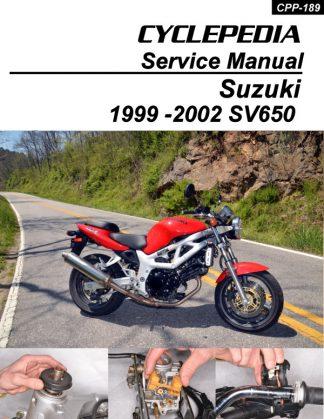 Suzuki SV650 Cyclepedia Printed Service Manual 1999-2002RepairManual.com