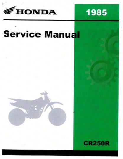 Official 1982-1985 Honda CR250R Service Manual