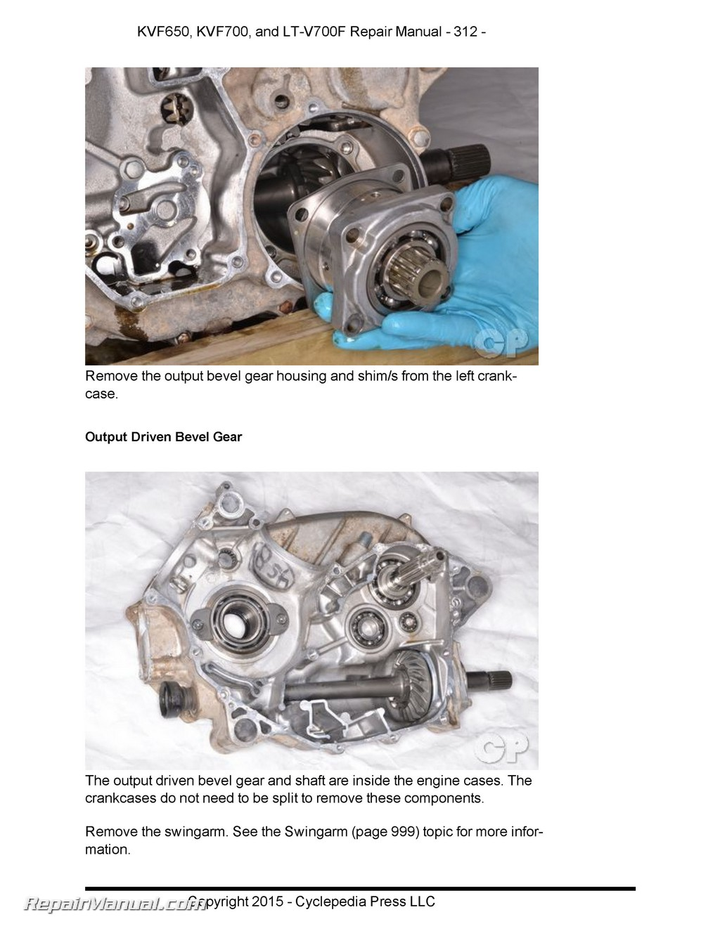 Cyclepedia Brute Force Manual Page on Motorcycle Engine Parts Diagram