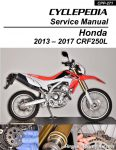 CRF250L       Honda    Motorcycle Service Manual 20132016