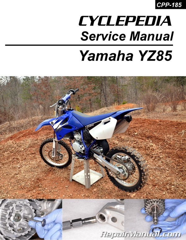yamaha yz85 printed motorcycle service manual cyclepedia rh repairmanual com Yamaha YZ250 Yamaha YZ