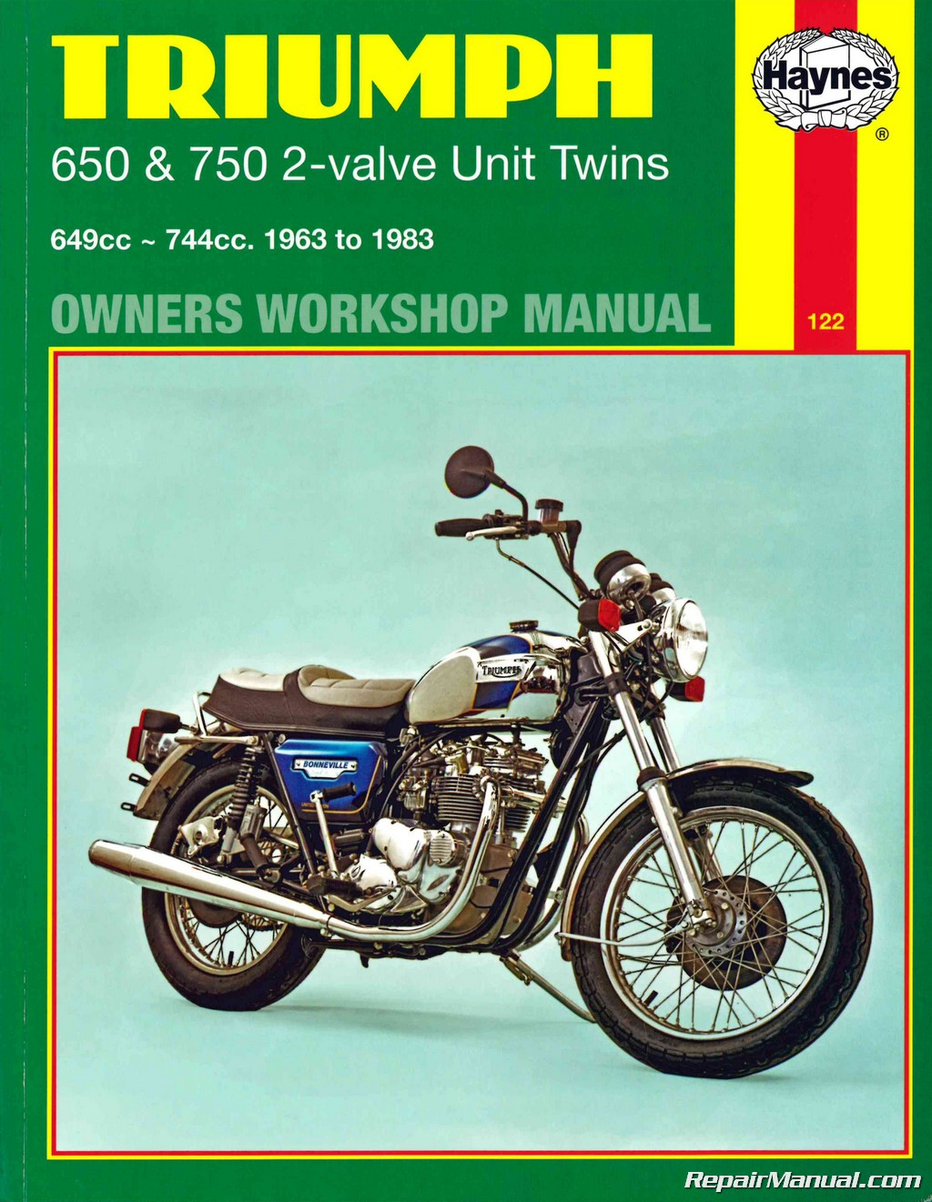 Triumph Bonneville Trophy Tiger 1963-1983 Motorcycle Owners Workshop Manual