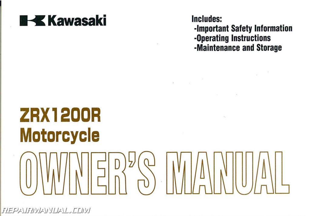 Kawasaki Ninja 650R For Sale >> 2001-2005 Kawasaki ZRX1200 Motorcycle Owners Manual