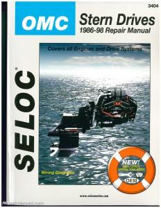 Omc cobra stern drive boat engine repair manual 1986 1998 for Boat motor repair manuals