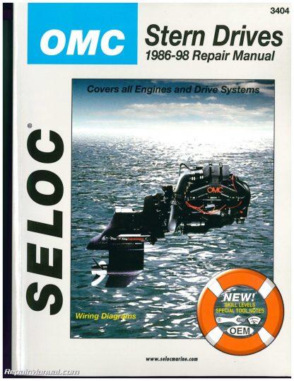 omc cobra stern drive boat engine repair manual 1986 1998 seloc rh repairmanual com