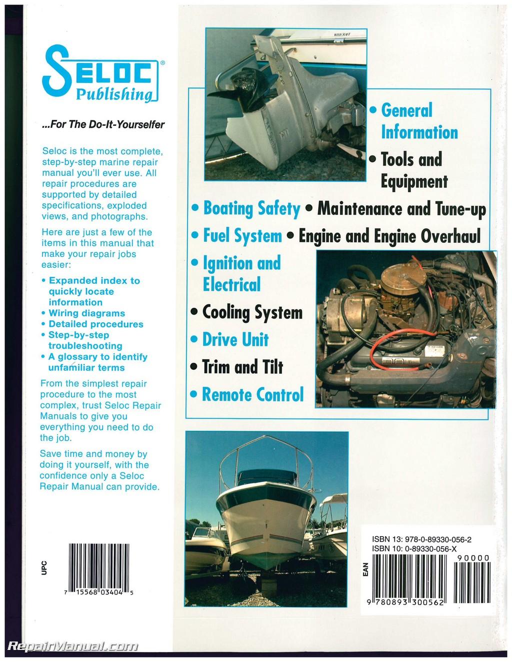 Omc Cobra Stern Drive Boat Engine Repair Manual 1986 1998 Seloc Ford 460 Fuel Filter