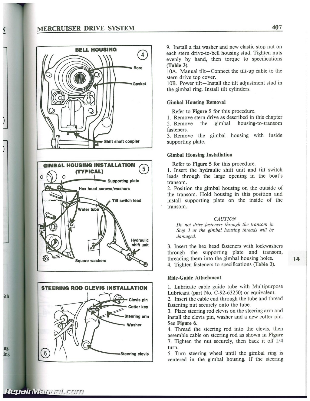 Mercruiser Stern Drive Boat Engine Shop Manual 1964 1987 Station Wiring Diagram For Two