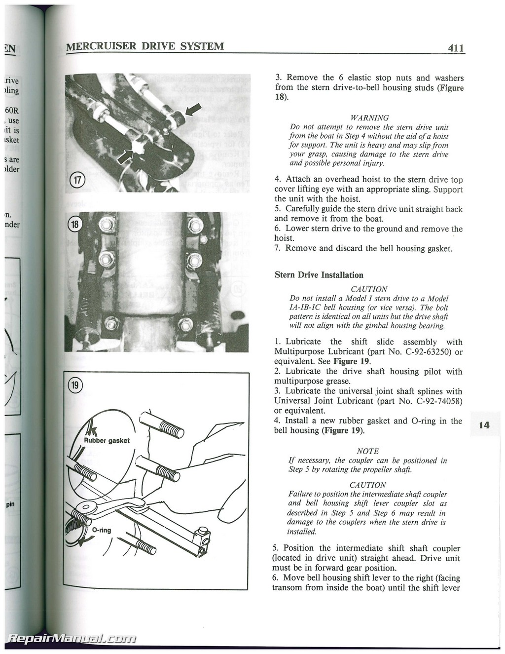 mercruiser stern drive boat engine shop manual 1964 1987 rh repairmanual com Mercruiser Manuals PDF Mercruiser Manuals PDF