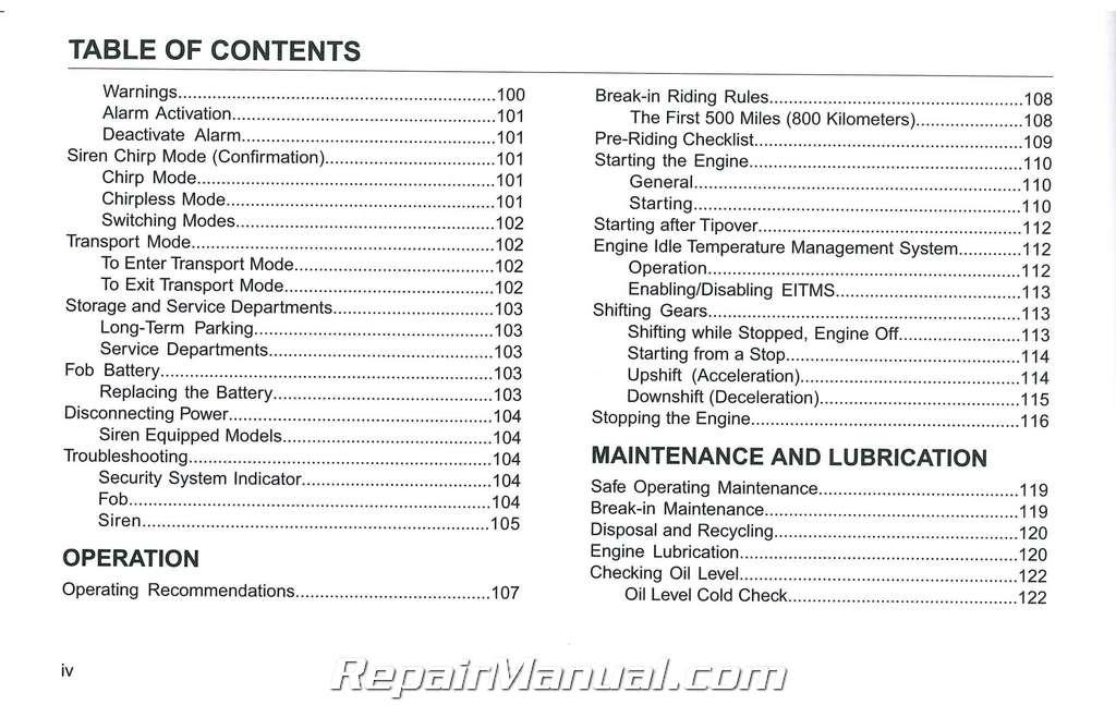 service manual for honda trike