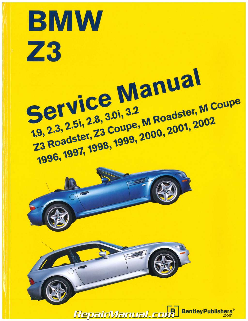 Bmw Z3 Roadster Printed Service Manual 1996 2002
