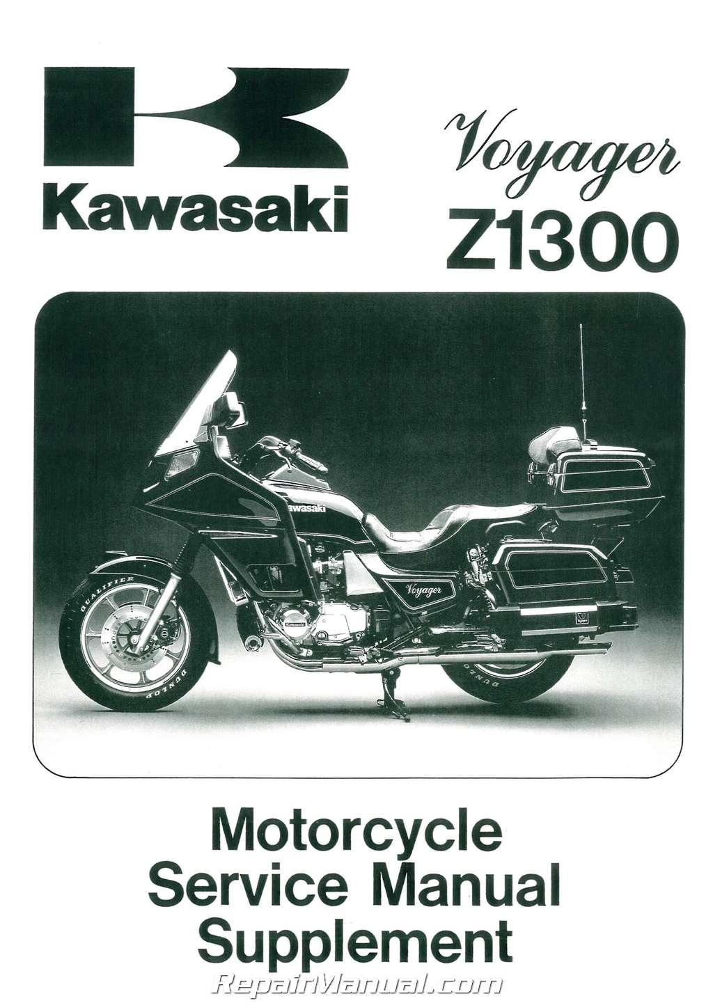 1983 1989 kawasaki voyager zn1300 motorcycle service manual supplement