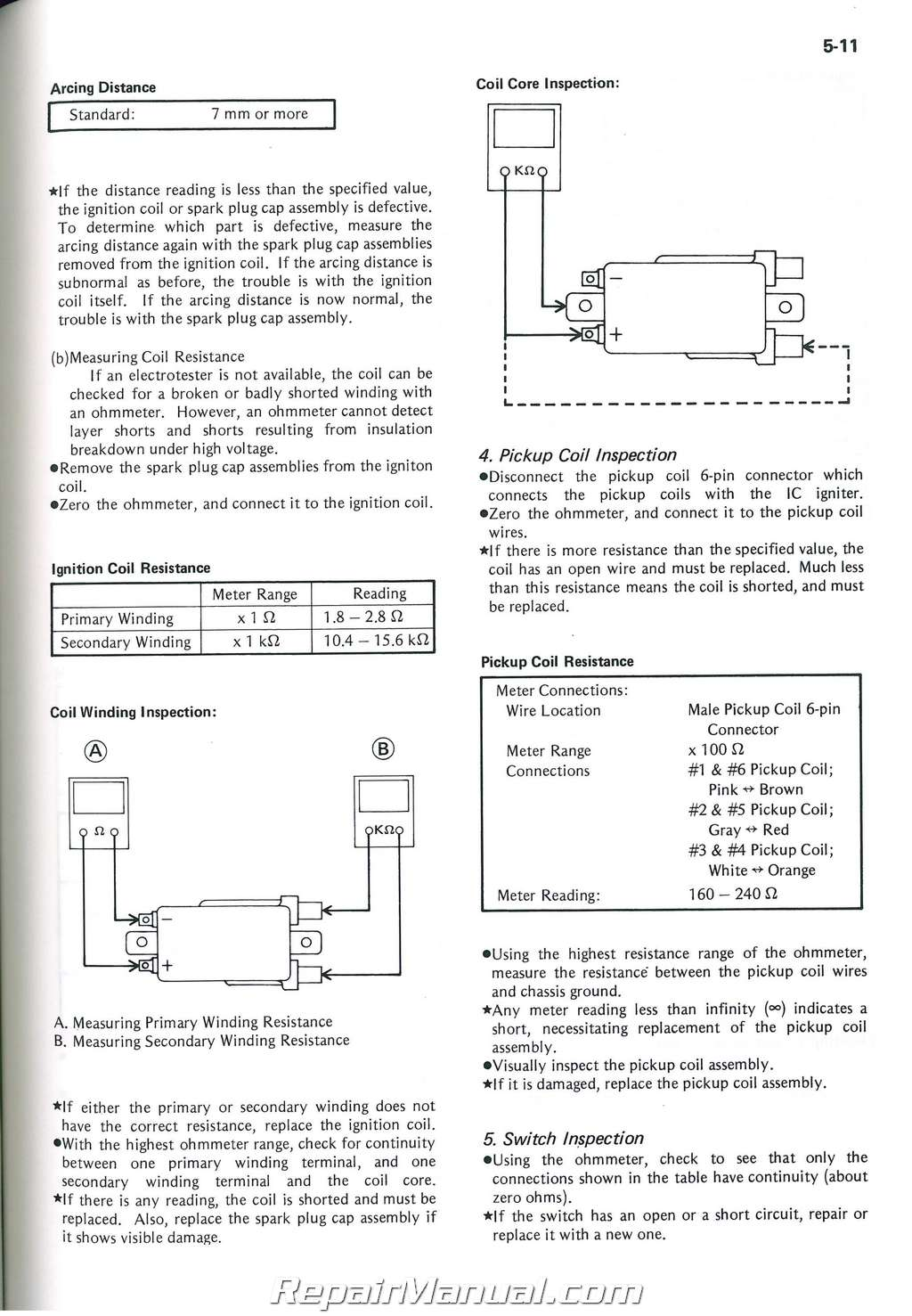 Wiring Diagram Of Kawasaki 1986 1300 Voyager Data Diagrams Xii 1983 1989 Zn1300 Motorcycle Service Manual Supplement Rh Repairmanual Com Vulcan 750