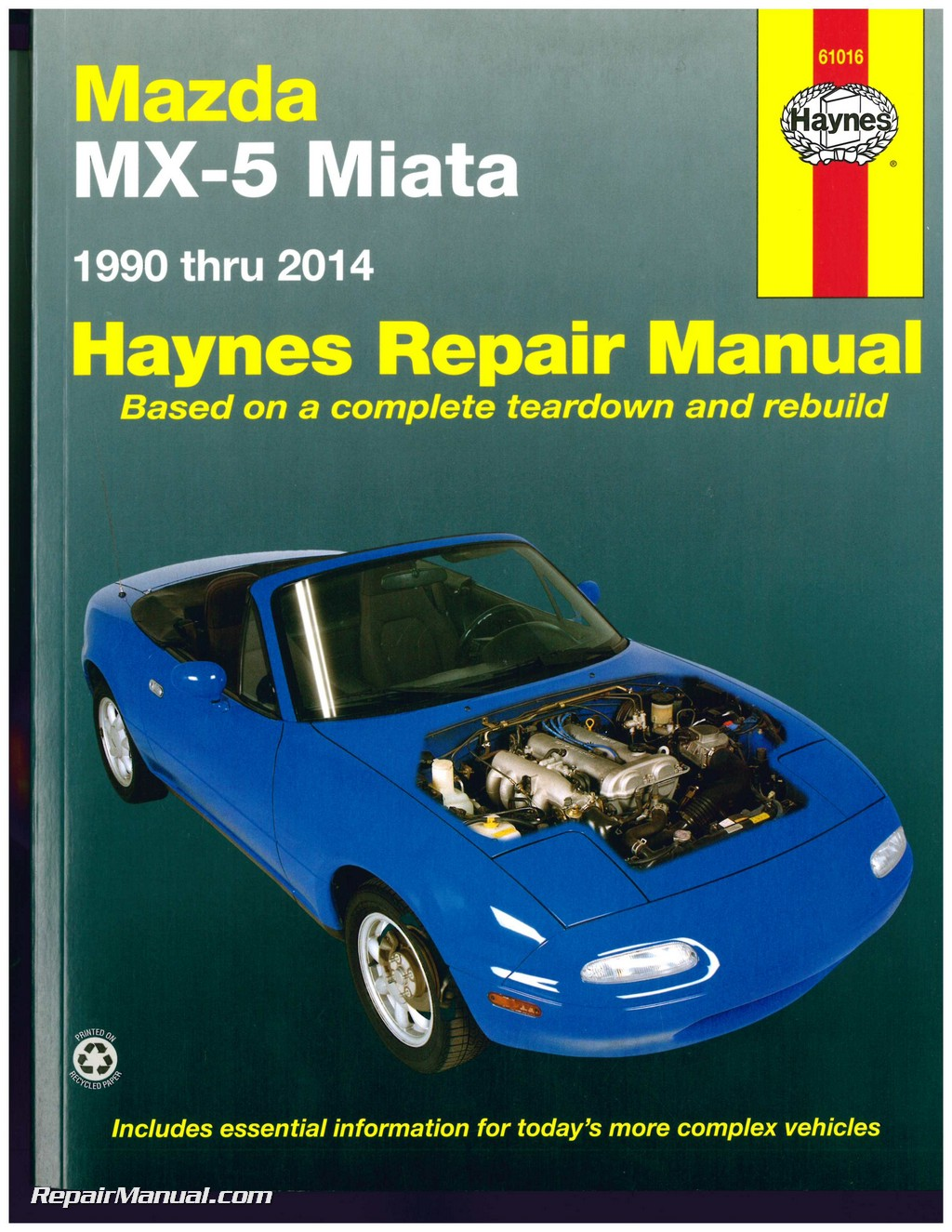 haynes mazda mx 5 miata 1990 2014 auto repair manual rh repairmanual com 1997 mazda miata owners manual pdf 1999 Mazda Miata