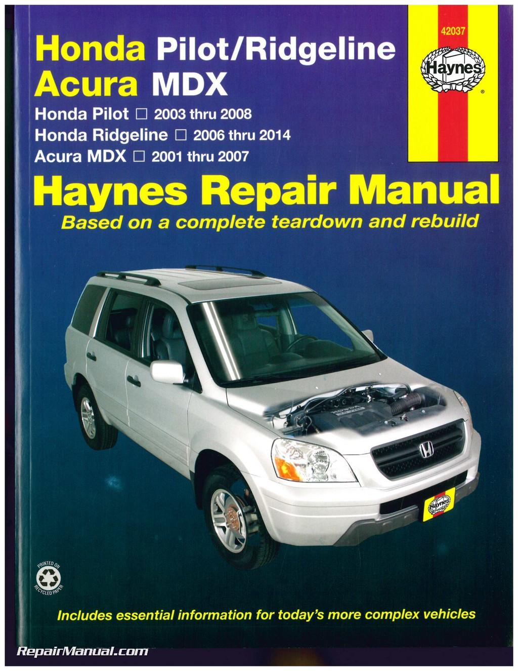 Image Result For Honda Ridgeline Repair Manual