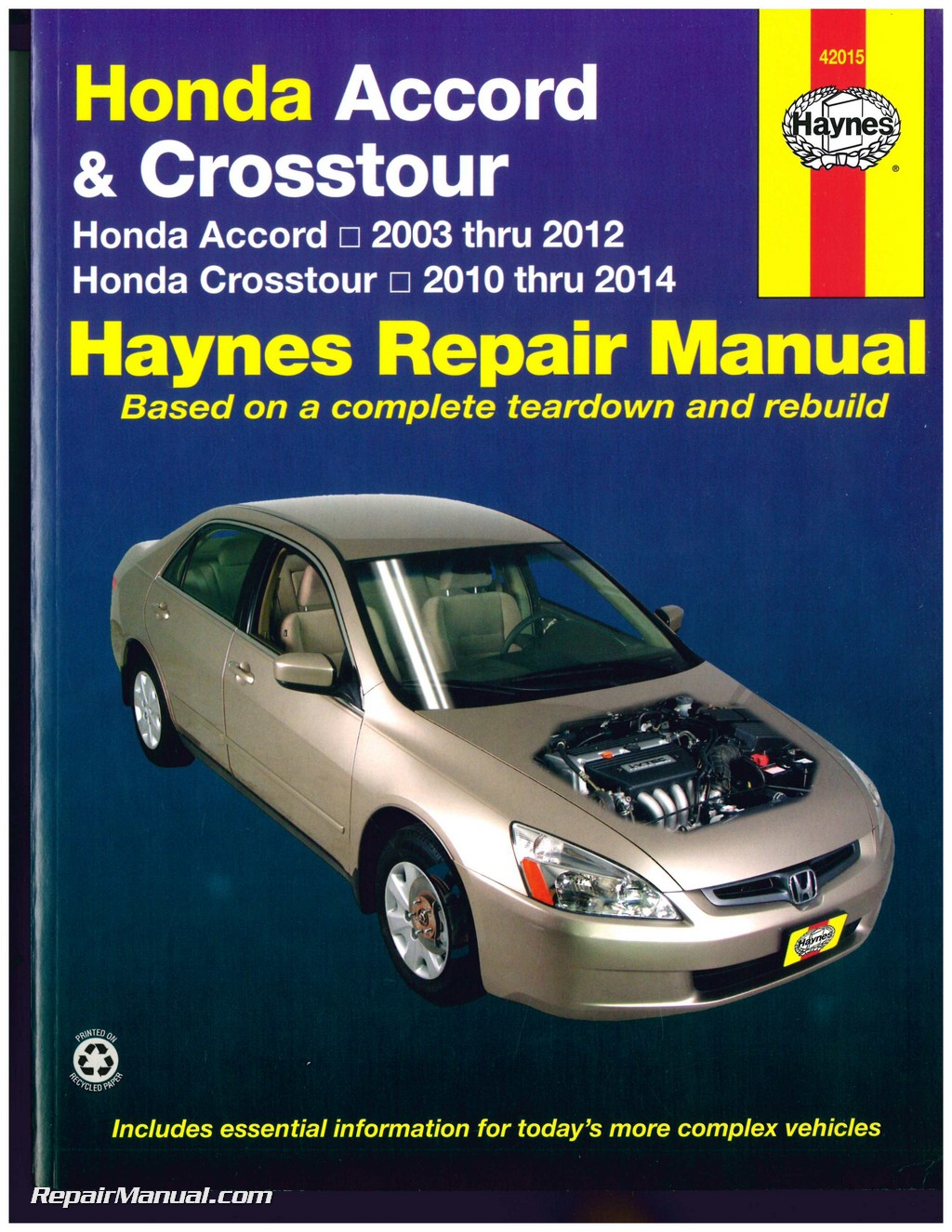 honda accord 2003 2012 crosstour 2010 2014 haynes automotive service rh repairmanual com Honda Accord Parts 91 Honda Accord Repair Manual Lights