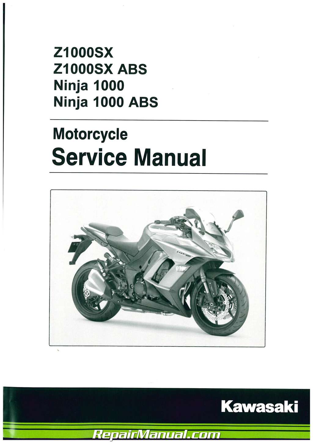 2008 kawasaki zx1000 ninja zx-10r service repair manual.