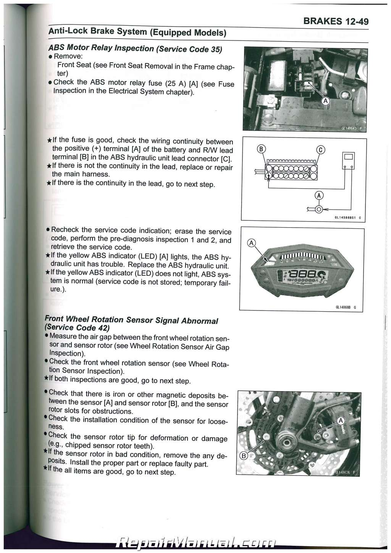 2014 - 2016 Kawasaki Z1000 ZR1000 / ABS Motorcycle Service ...