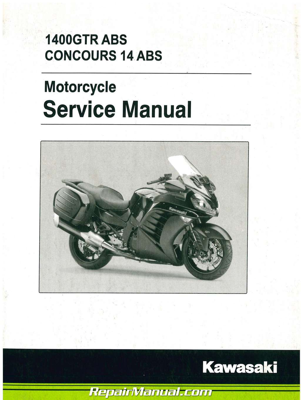 2015 kawasaki zg1400 concours abs non abs motorcycle service manual rh  repairmanual com 2018 Kawasaki Concours 2015 Kawasaki Concours without Bags