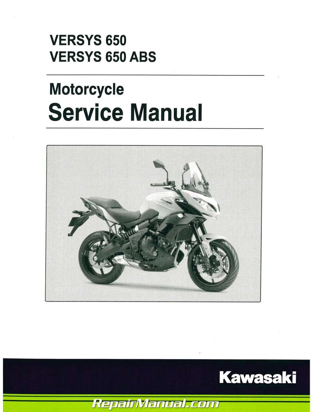 2015 Kawasaki KLE650A Versys / ABS Motorcycle Service Manual