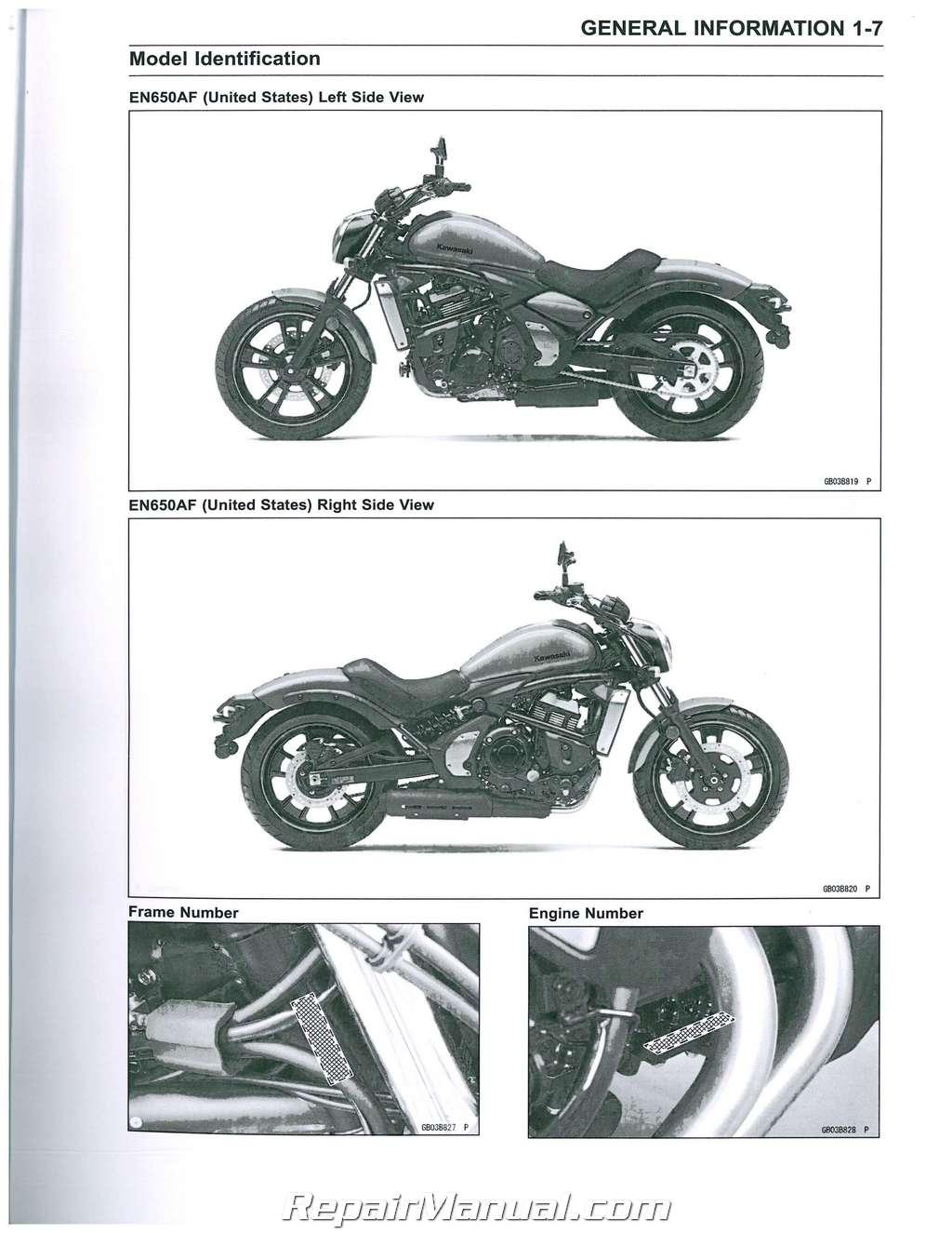 2015 2016 kawasaki en650 vulcan s abs motorcycle service manual rh repairmanual com vulcan 650 service manual vulcan 900 service manual