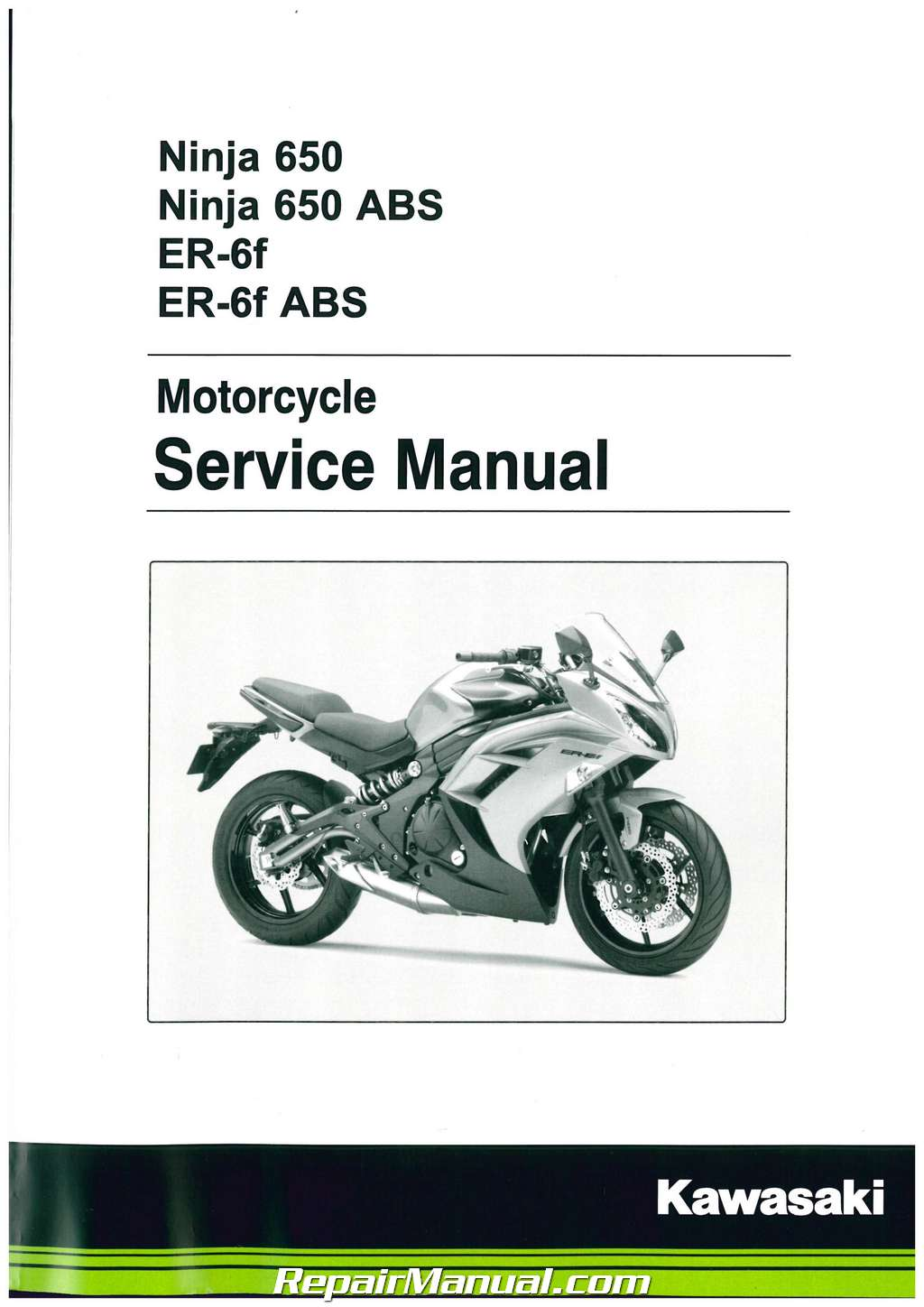 2012 2016 kawasaki ex650 ninja 650 motorcycle service manual rh repairmanual com Ninja Training Manual Ninja Master