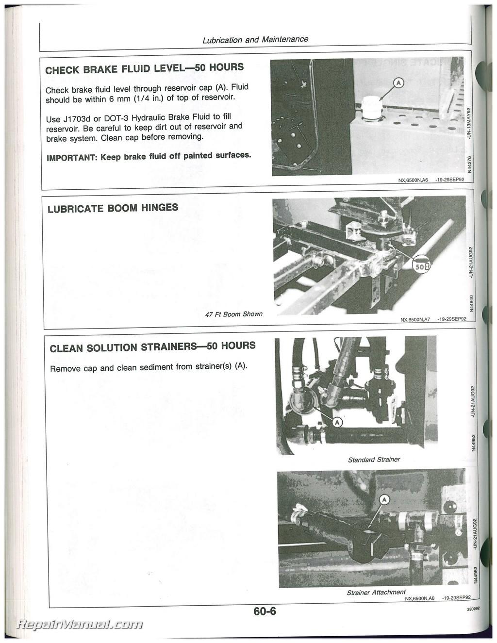 John Deere 6500 Generator Manual 260 Alternator Wiring Diagram Self Propelled Sprayer Operators Rh Repairmanual Com 6200 Onan Electric Start