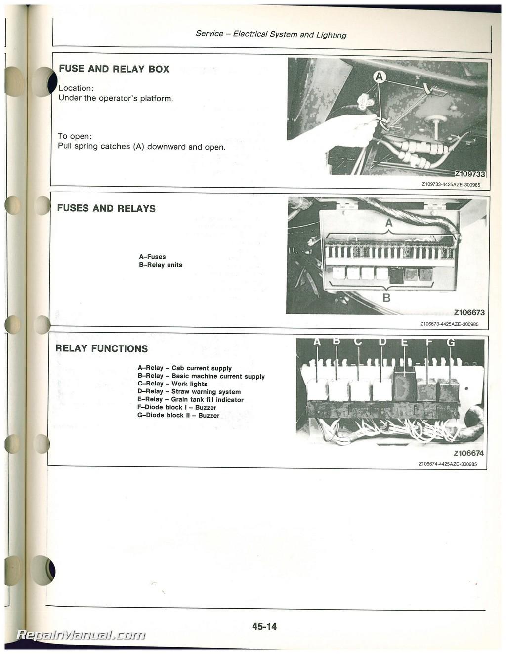 John Deere Combine Box Fuse Explained Wiring Diagrams John Deere 9500  Combine Craigslist John Deere 9500 Combine Fuse Box