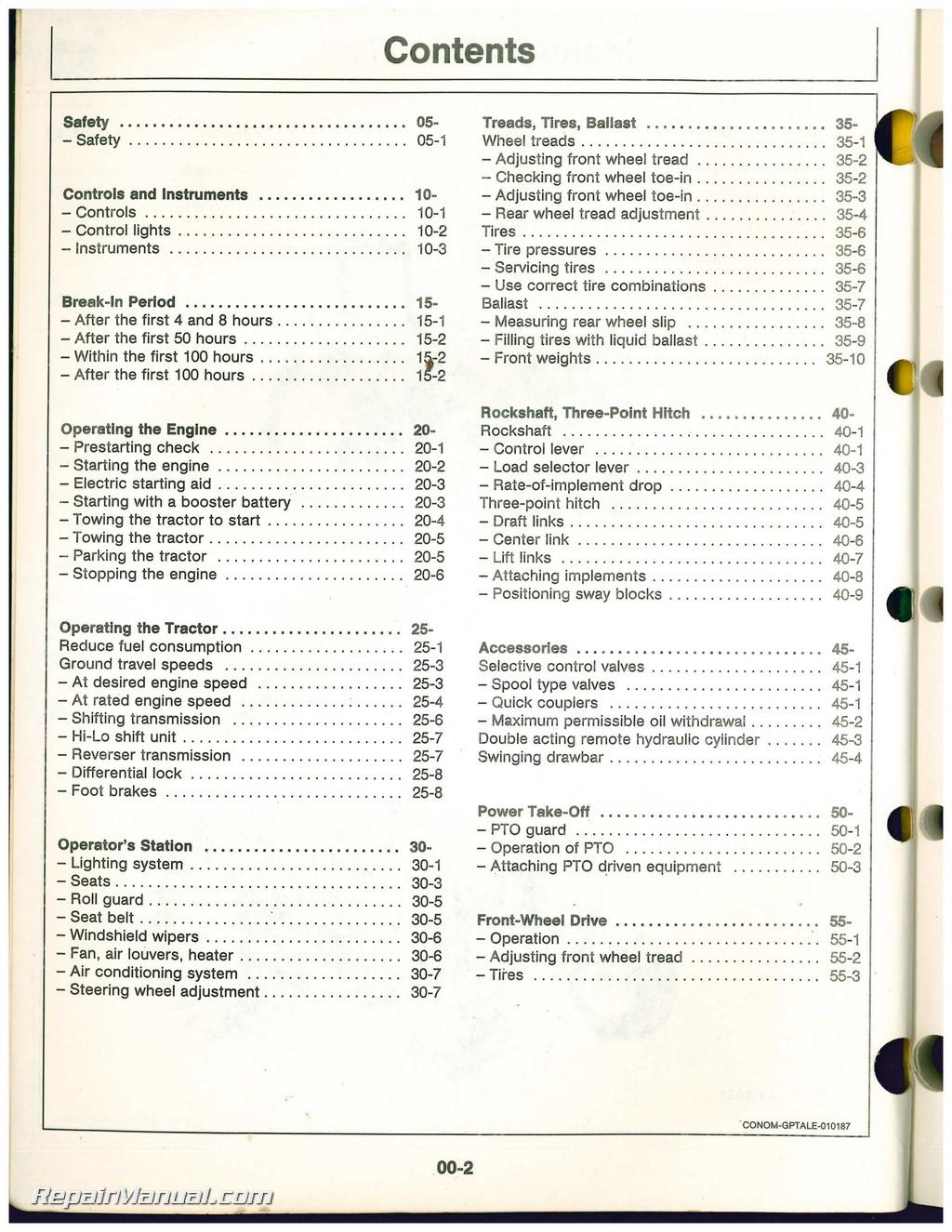 john deere 2755 owners manual