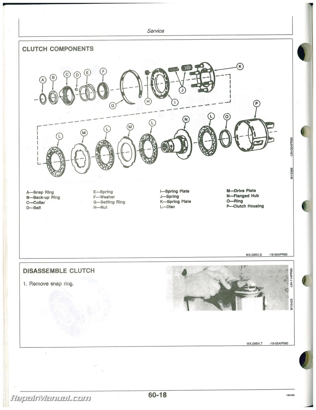 Used John Deere 609 And 709 Rotary Cutter Operators Manual