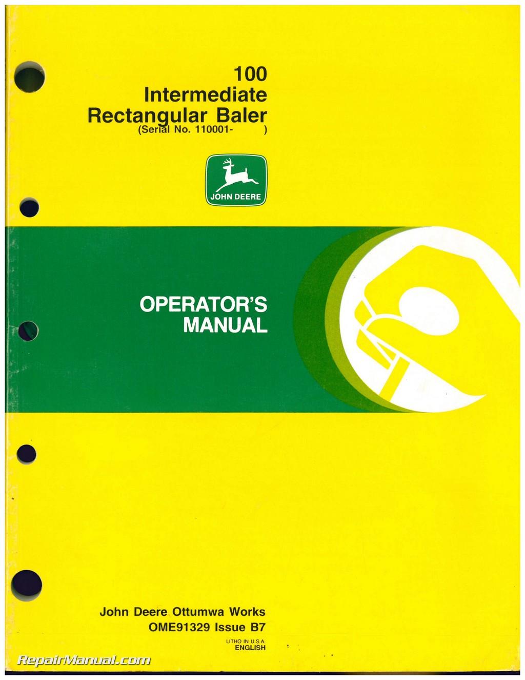 john deere 510 baler service manual