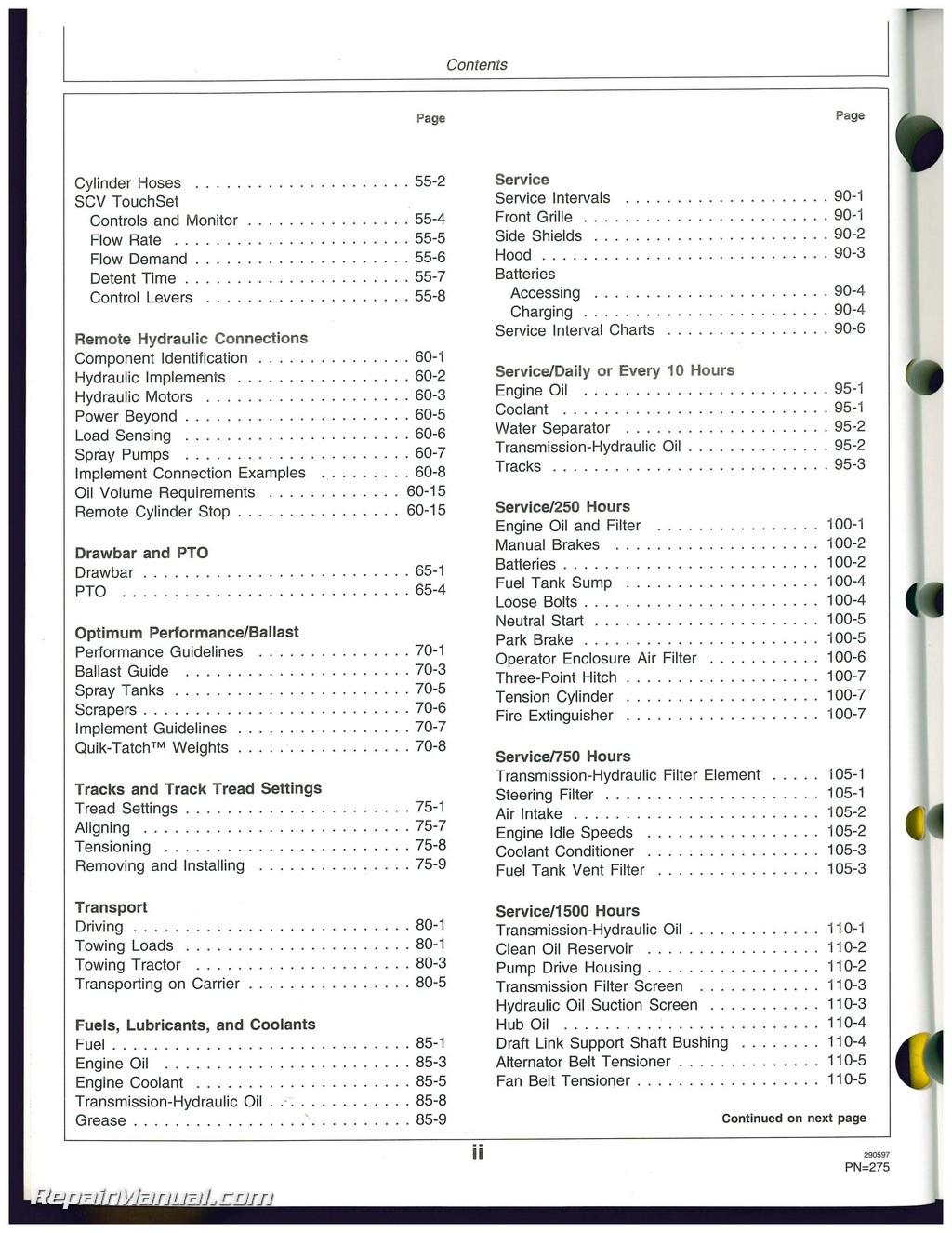 john deere 8300 service manual