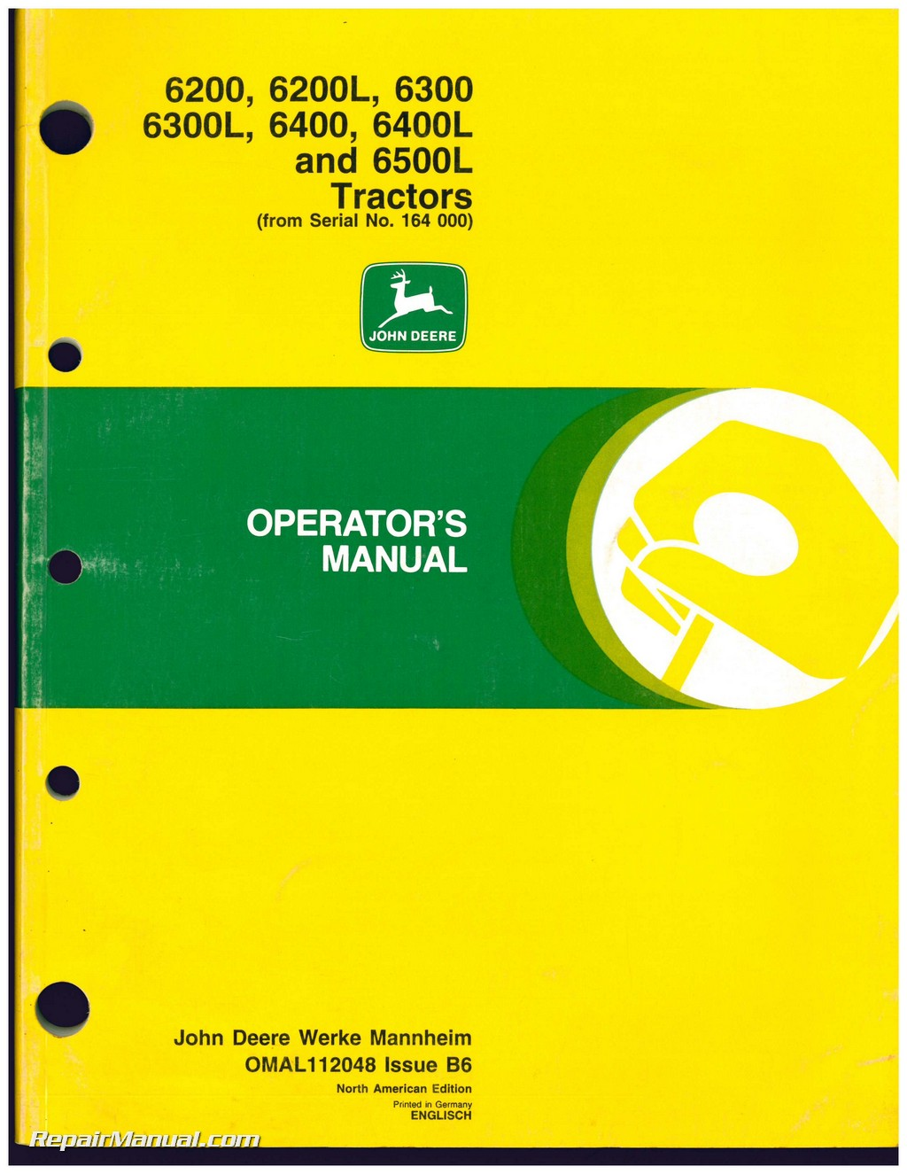 used john deere 6200 6200l 6300 6300l 6400 6400l and 6500l rh repairmanual com john deere 6300 service manual john deere 6300 workshop manual