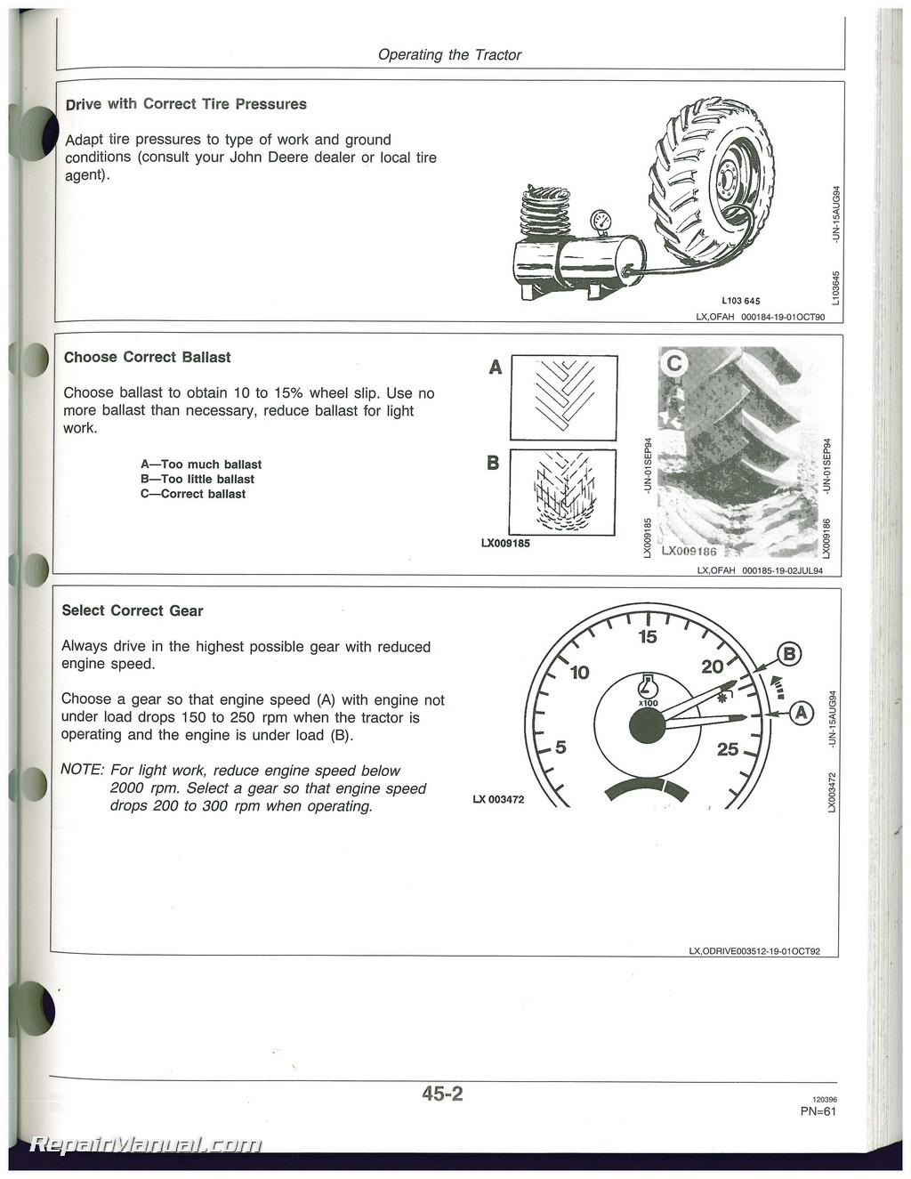 used john deere 6200 6200l 6300 6300l 6400 6400l and 6500l rh repairmanual com John Deere 6500 Watt Generator John Deere 6200 Generator Problems