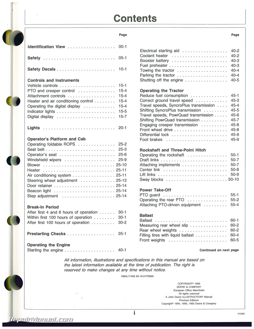 used john deere 6200 6200l 6300 6300l 6400 6400l and 6500l rh repairmanual com john deere 5300 repair manual download john deere 6300 tractor service manual
