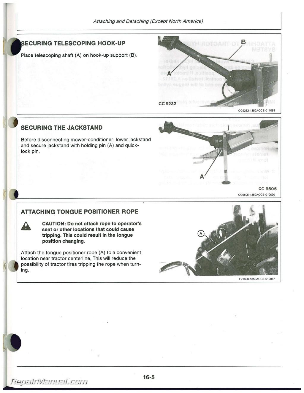 John Deere 1350, 1360, 1460, 1470 Mower Conditioner Operators Manual