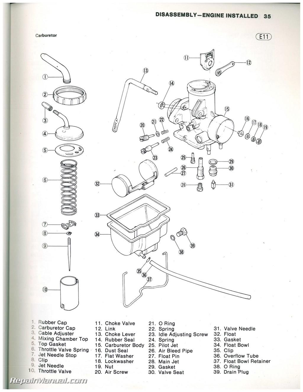 Used 1981 Kawasaki KLT200 ATC Three Wheeler Service Manual Klt Wiring Diagram on