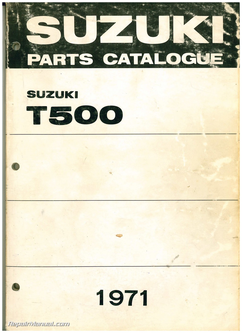1971 suzuki t500 titan two stroke motorcycle parts manual rh repairmanual com Suzuki Motorcycle Parts Diagrams Suzuki Motorcycles Parts Batteries