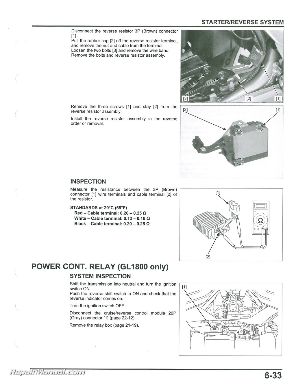 2012 – 2017 Honda GL1800A/B GoldWing Motorcycle Service & Electrical  Troubleshooting Manual