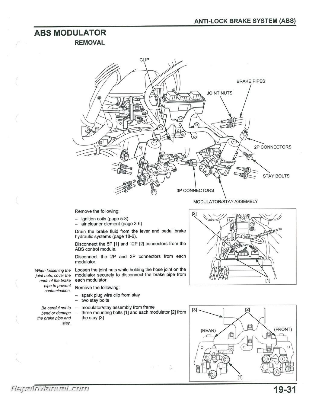 2012  U2013 2017 Honda Gl1800a  B Goldwing Motorcycle Service  U0026 Electrical Troubleshooting Manual