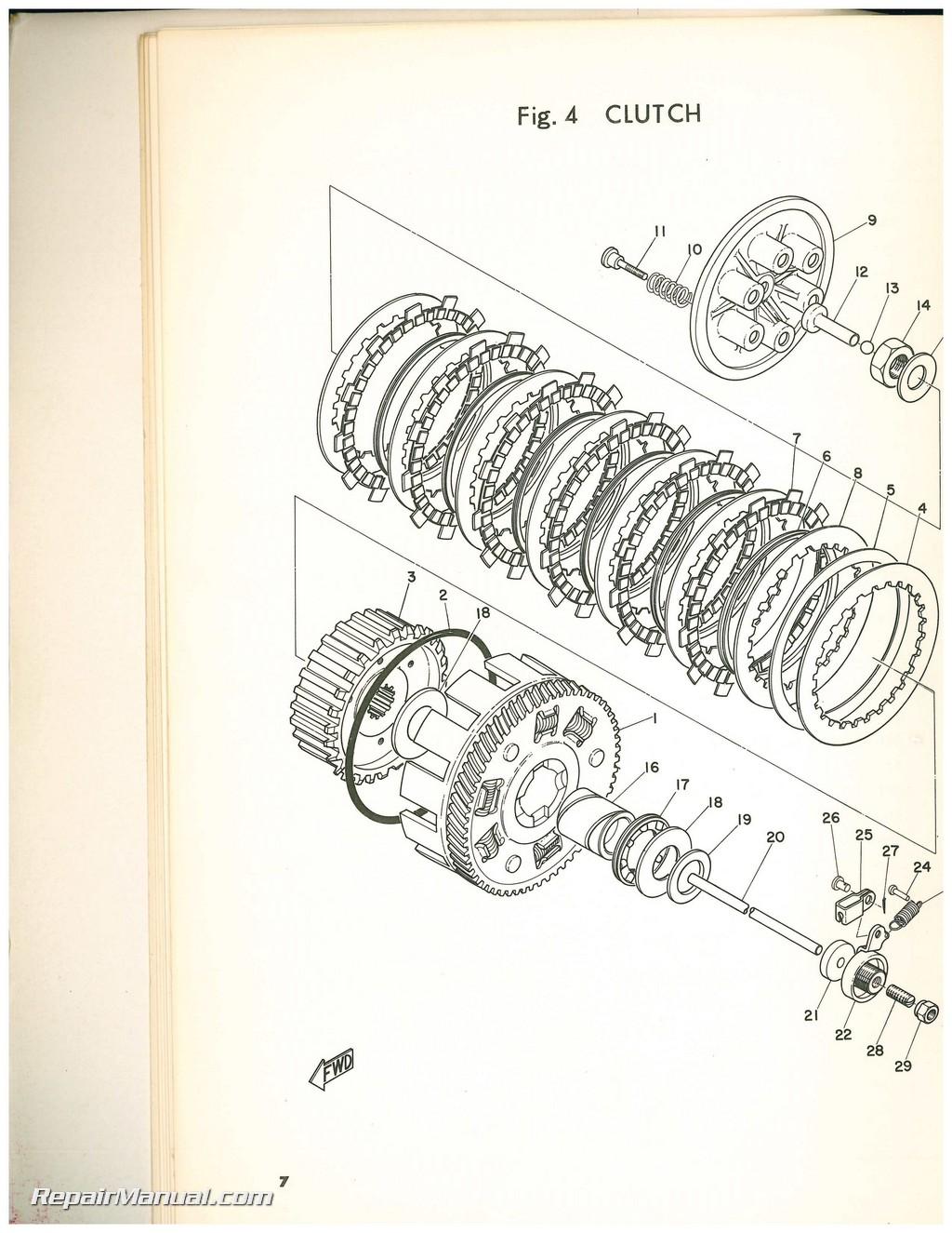 1968 Yamaha Dt1 Printed Motorcycle Parts Manual
