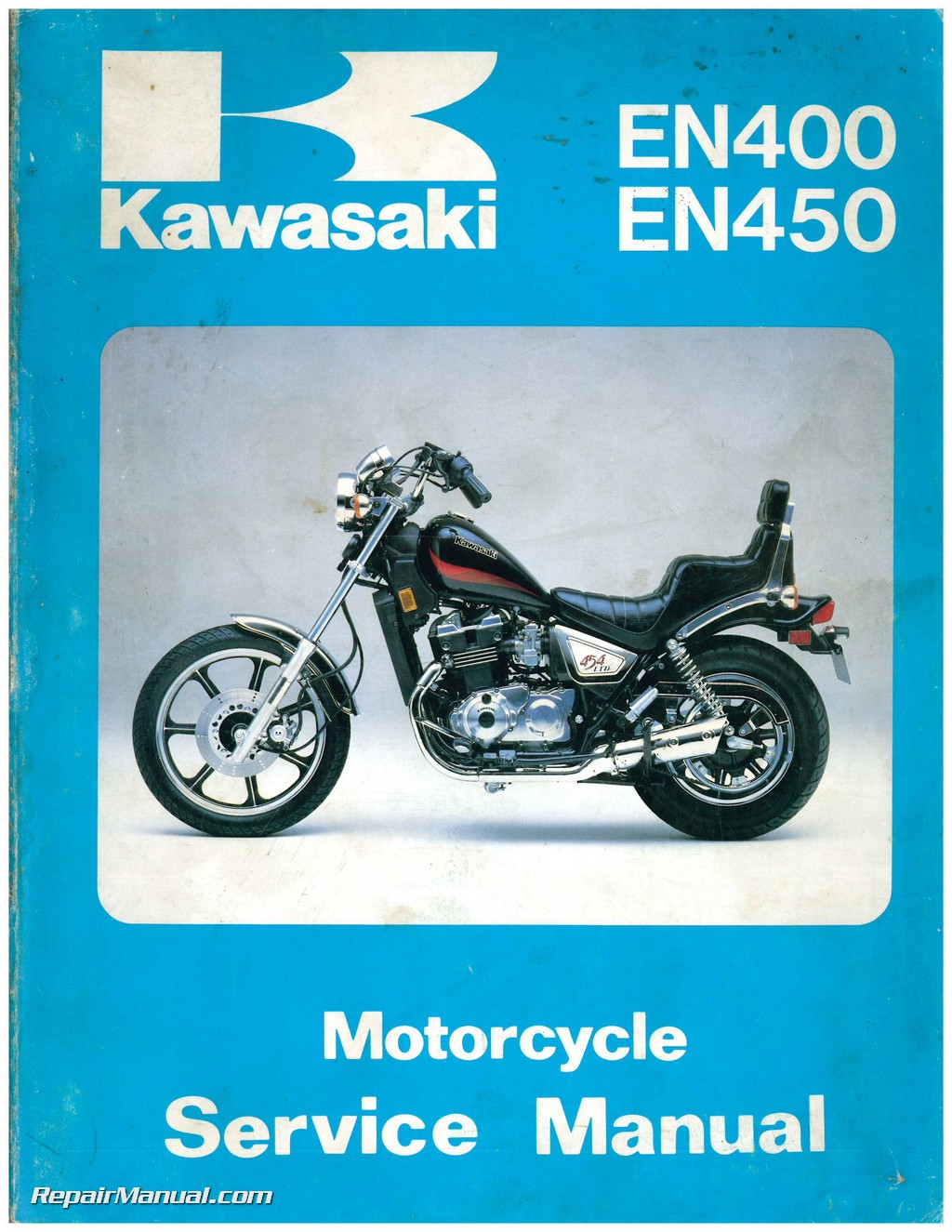 used 1985 1990 kawasaki en400 en450 en500 ex500 motorcycle service rh repairmanual com 09 En500 LTD vulcan en 500 service manual