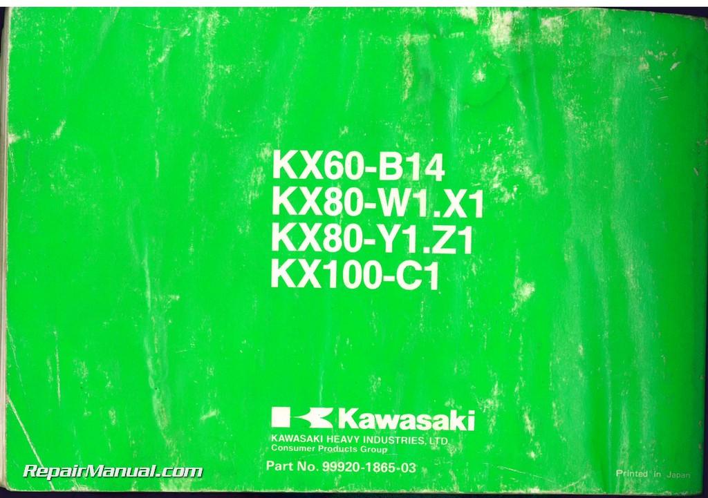 Kx85 pdf Owners Manual