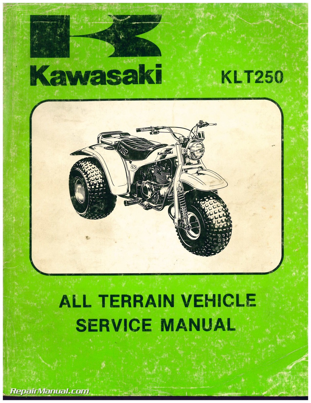 1982 kawasaki klt250 a1 3 wheel atc printed service manual rh repairmanual  com Wiring Diagram for