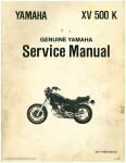 1983 Yamaha XV500K Virago Motorcycle Service Manual 1