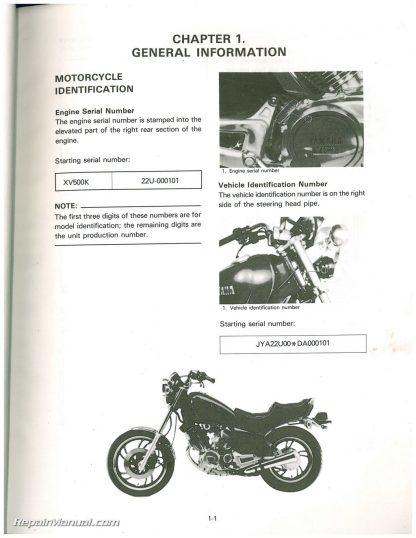 1983 yamaha xv500k virago motorcycle service manual yamaha guitar wiring schematic yamaha xv500k color wiring schematic #49