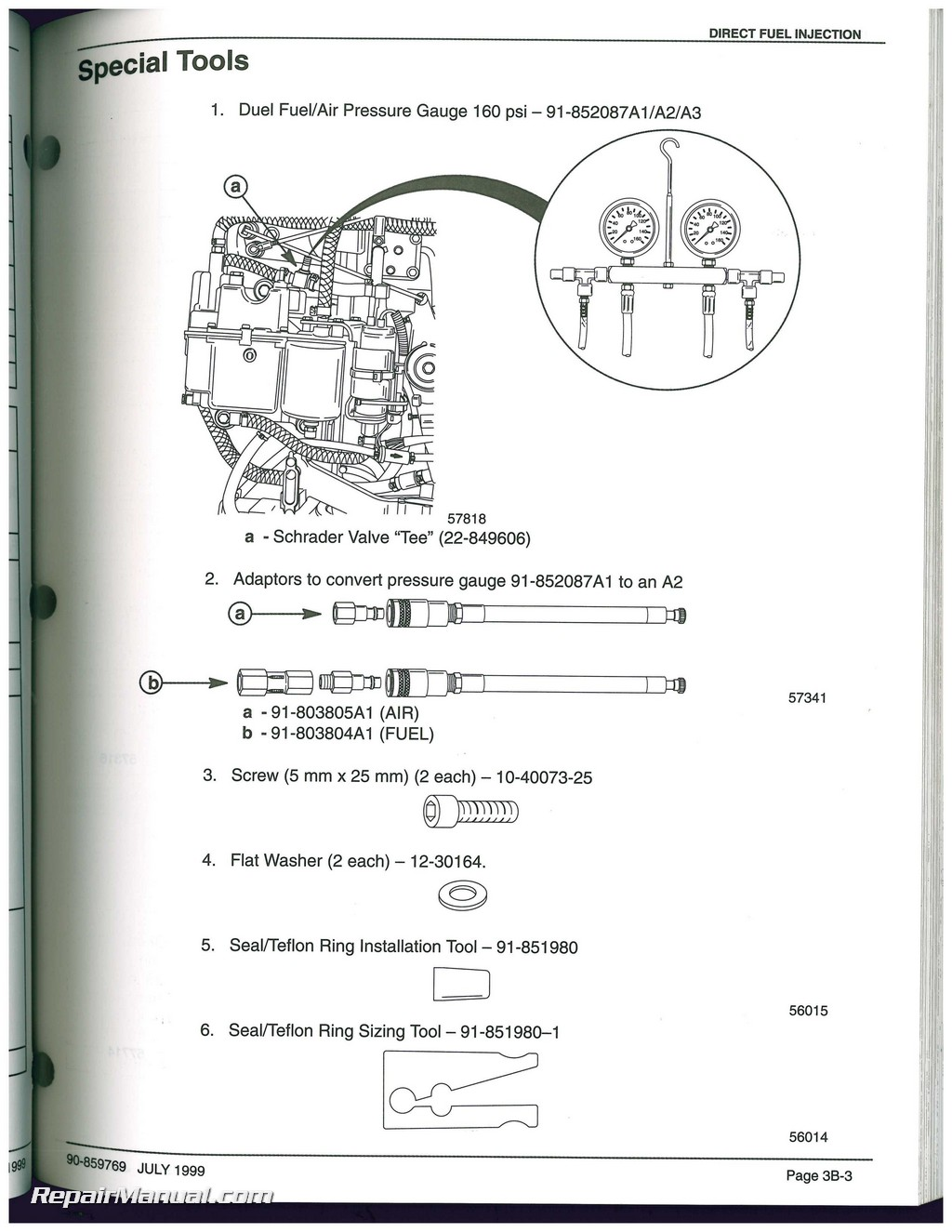 Used Mariner Mercury 200 225 Optimax Direct Fuel Injection Service Wiring Diagram Manual