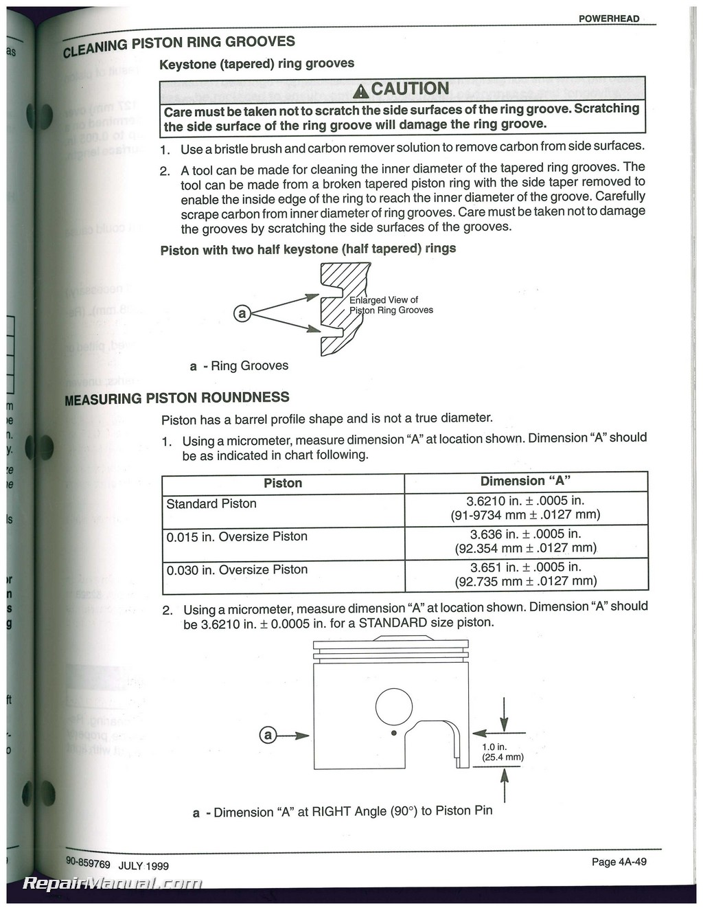 Used Mariner Mercury 200 • 225 OPTIMAX DIRECT FUEL INJECTION Service Manual