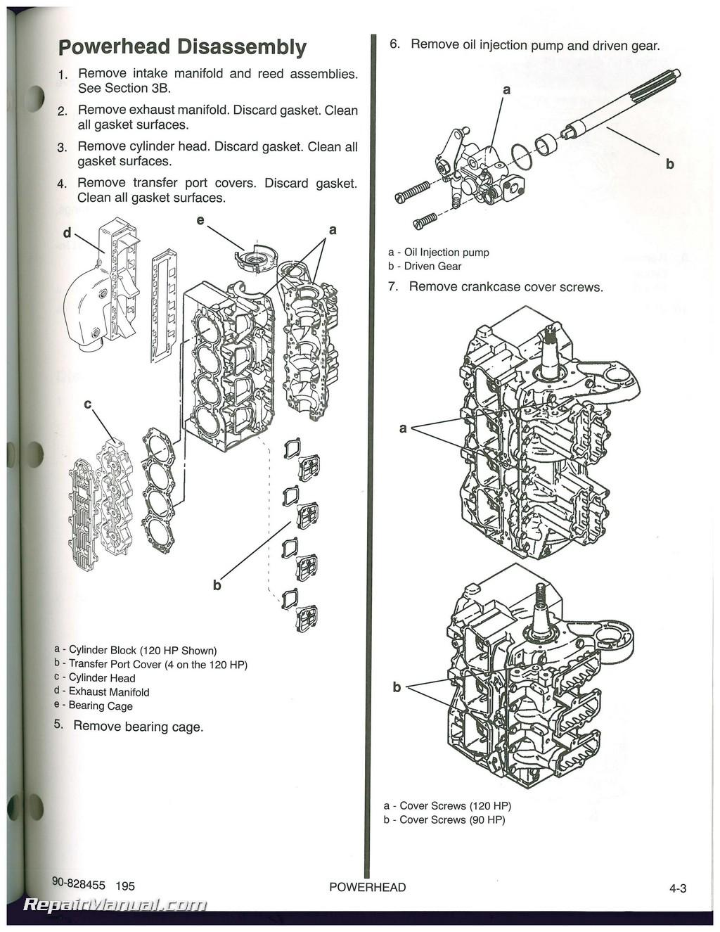used 1995 mercury 90 120 sport jet engine service manual rh repairmanual com mercury 240 sport jet service manual mercury sport jet 120 service manual