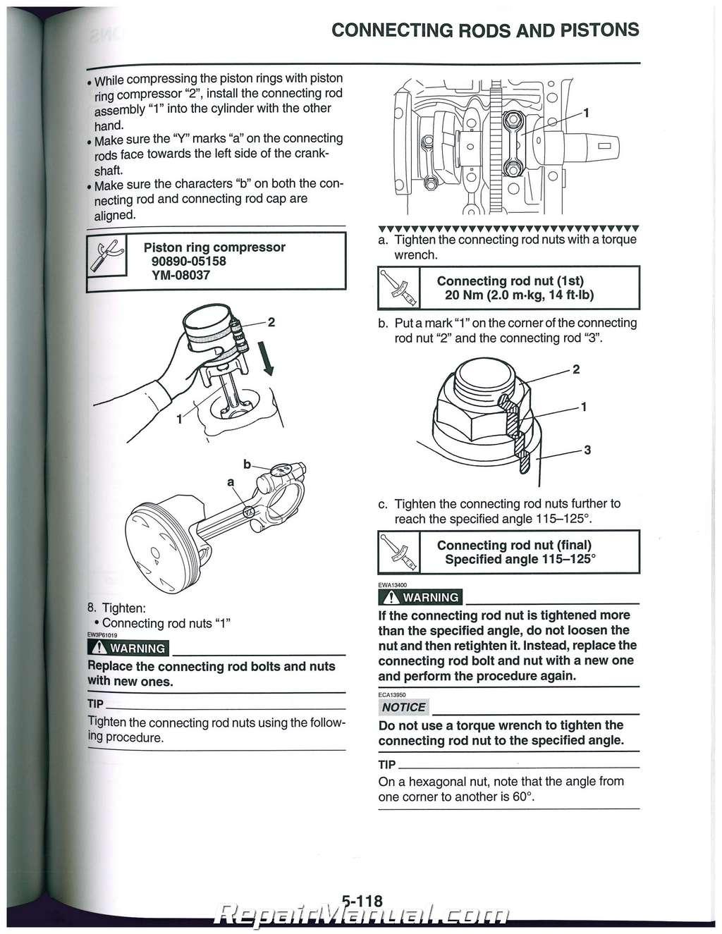 Yamaha fjr1300 service manual | ebay.